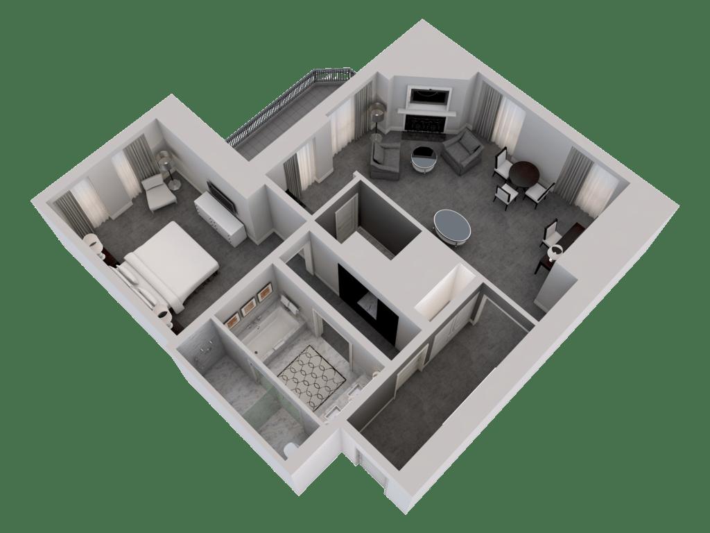 3d Floor Plans Rooms Suites Waldorf Astoria Chicago